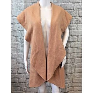 Anthropologie Moth Blush Wool Cape Duster Sweater